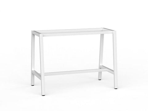 Cubit Bar Leaner - Frame Only-Office Meeting Table-1600 x 800-White-Commercial Traders - Office Furniture