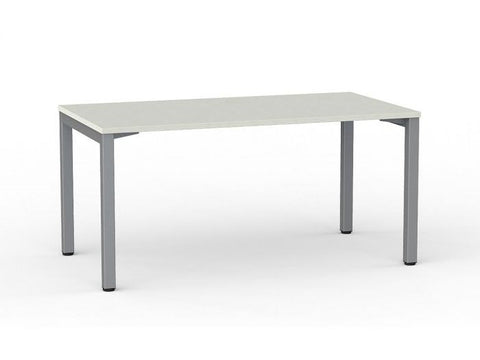 Cubit Aero Desk - Silver Frame - CLEARANCE - commercial traders office furniture