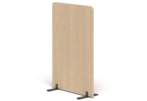 BOX Free Standing Screen-Unclassified-1200 high x 800 Wide-Refined Oak-Commercial Traders - Office Furniture