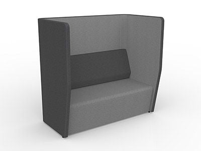 Motion Cape Booth 2 Seater-Unclassified-Stone Grey-Commercial Traders - Office Furniture
