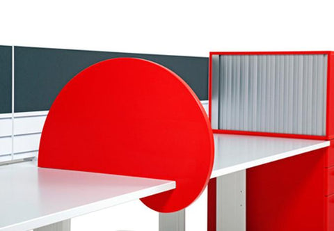 Bubble Melteca Side Screen - 350mm (H) - commercial traders office furniture