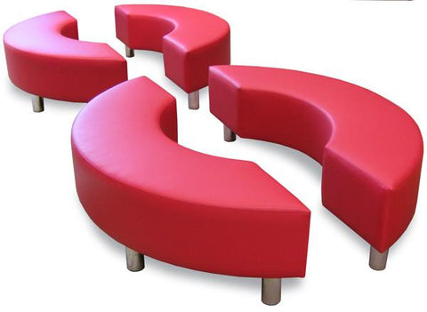 Curved Ottoman-Unclassified-Delivery In Auckland-Lustrell (Vinyl)-Commercial Traders - Office Furniture