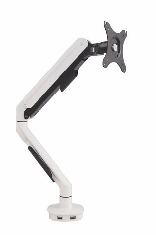 Cutlass Gaslift Single Monitor Arm With USB Charging - commercial traders office furniture