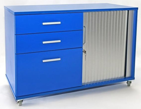 Essentials Mobile Tambour - Small 1 door/drawer - commercial traders office furniture