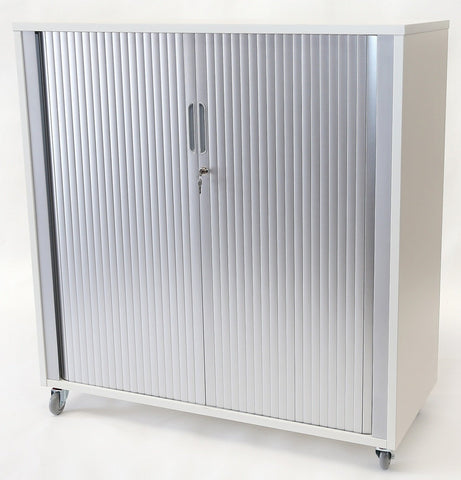 Essentials Tambour - 1200h x 1200w-Unclassified-Affinity Maple-Toe Kick-Auckland Pickup-Commercial Traders - Office Furniture