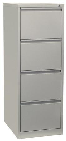 Firstline 4 drawer vertical filing cabinet-Unclassified-Grey-Commercial Traders - Office Furniture