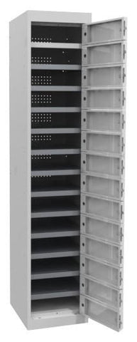 Laptop Lockers - 14 Tier - Multi Door-Unclassified-Silver Grey-Commercial Traders - Office Furniture