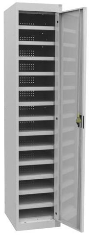 Laptop Lockers - 14 Tier - Single Door-Unclassified-Silver Grey-Commercial Traders - Office Furniture