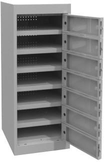 Laptop Lockers - 7 Tier - Multi Door-Unclassified-Silver Grey-Commercial Traders - Office Furniture