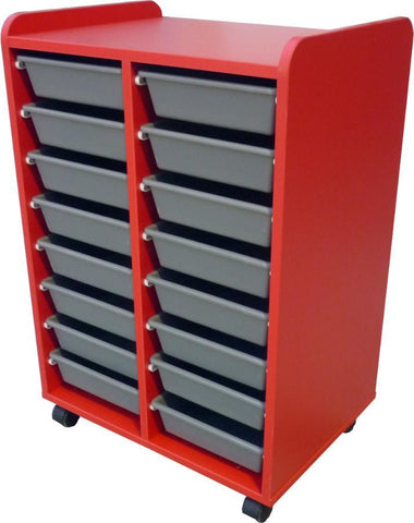 Mobile Tote Storage - 16 totes - commercial traders office furniture