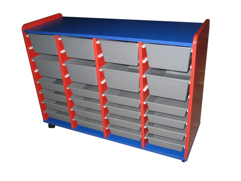 Mobile Tote Storage - 32 totes - commercial traders office furniture