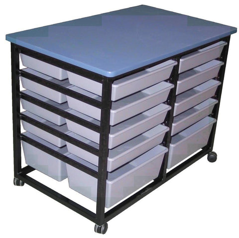 Mobile Tote Storage Metal - 12 totes - commercial traders office furniture