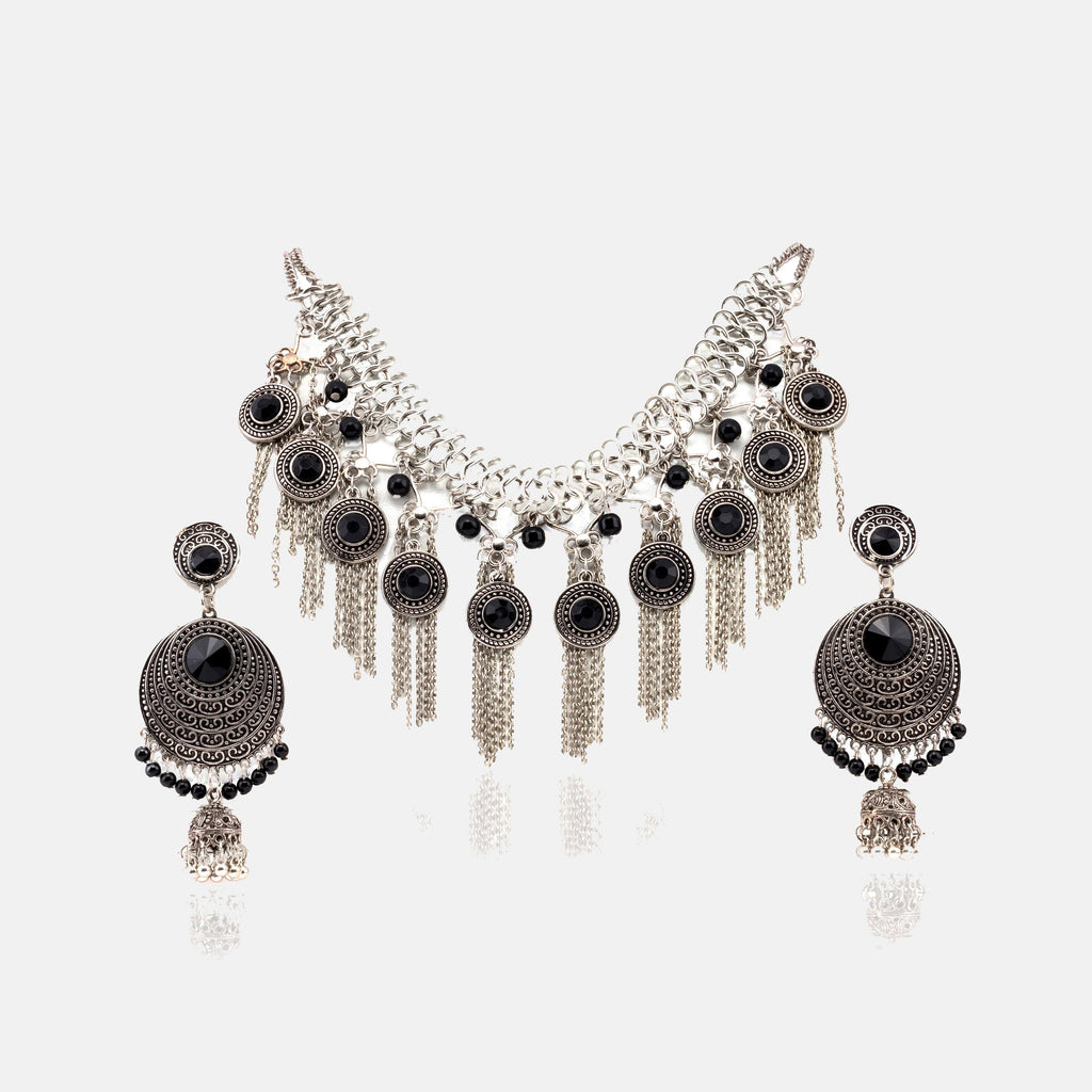 Royal Textured silver oxidised Set