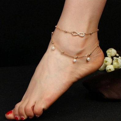 Classy Bell Pearl Anklet