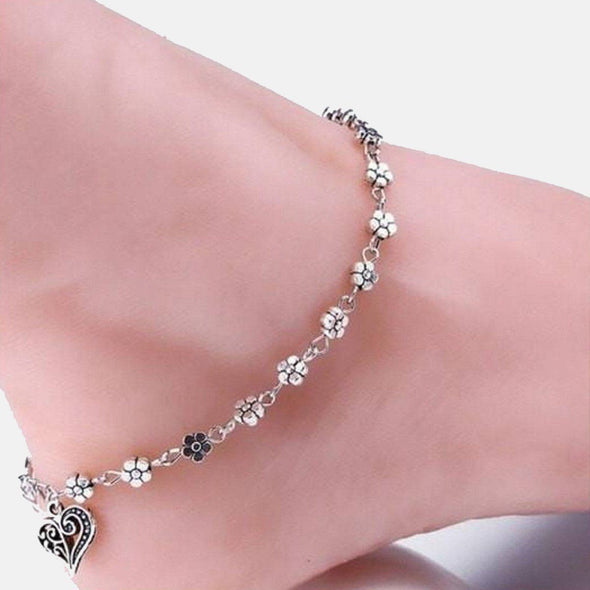 Classy Oxi heart Anklet