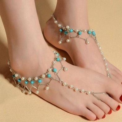 Classy Pearl droplets Anklet