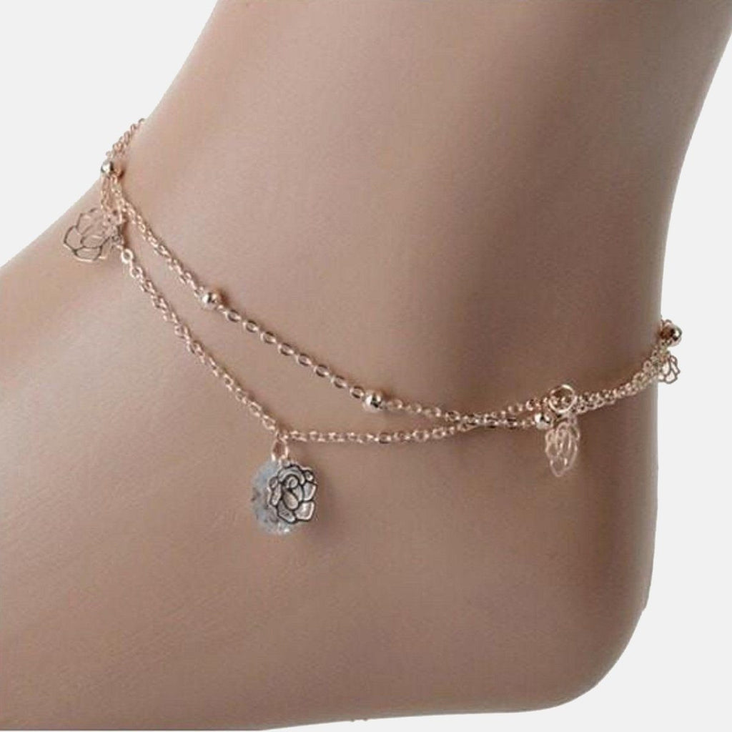 Classy Rose hanging Anklet