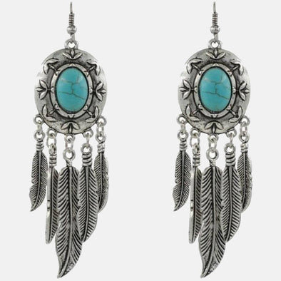 Ancient Feather Fall Earring