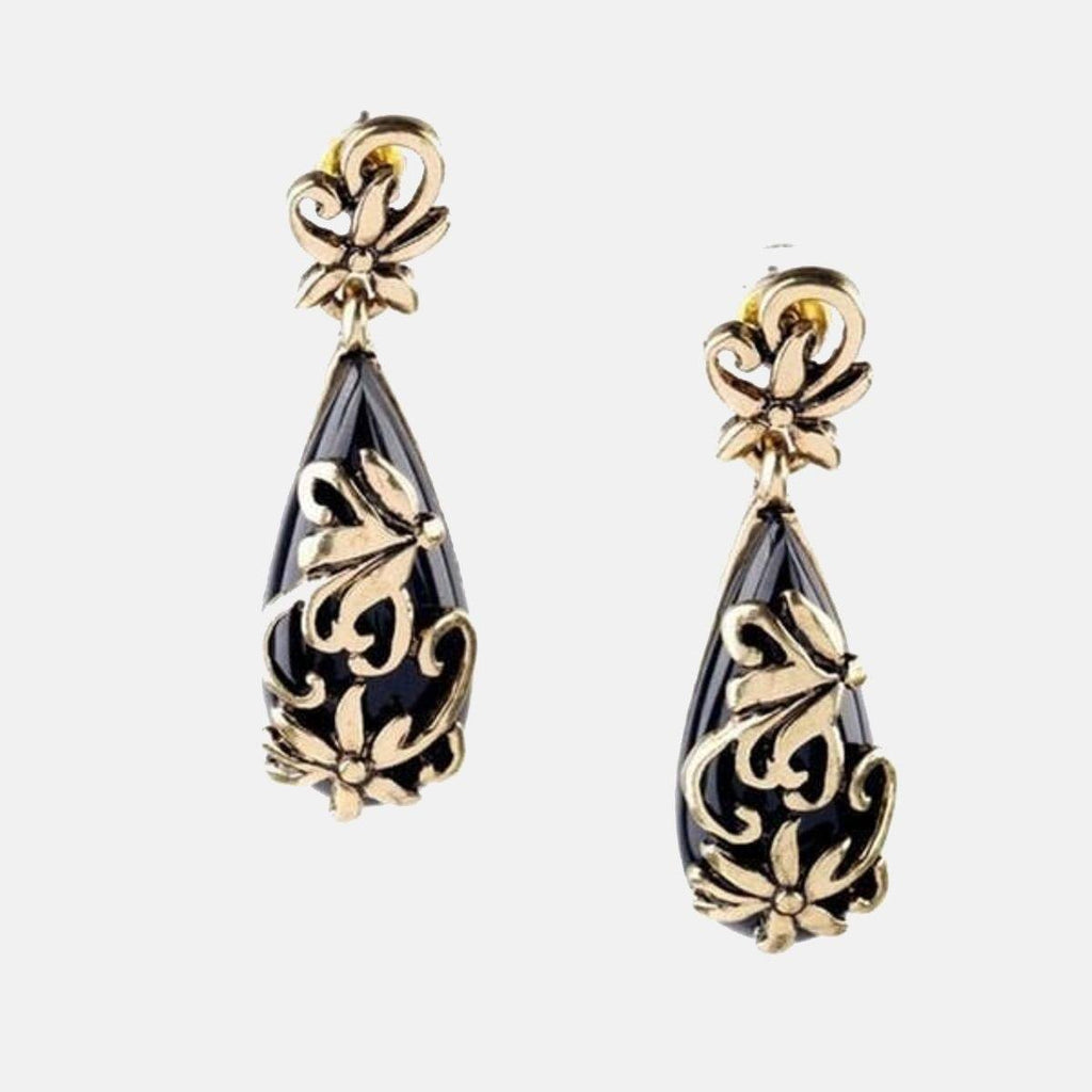 Ethnic Bold Black Earring