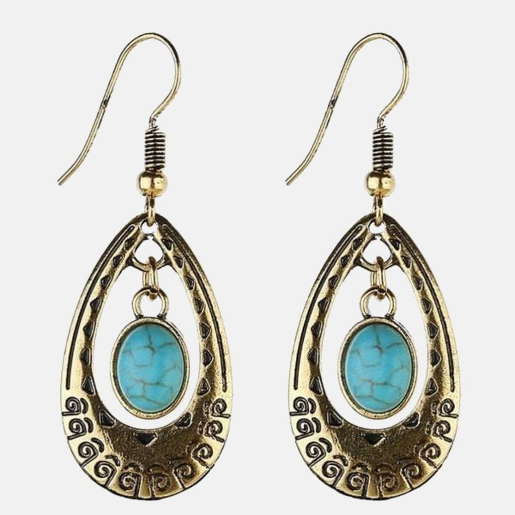 Ethnic Oval Loop Earring