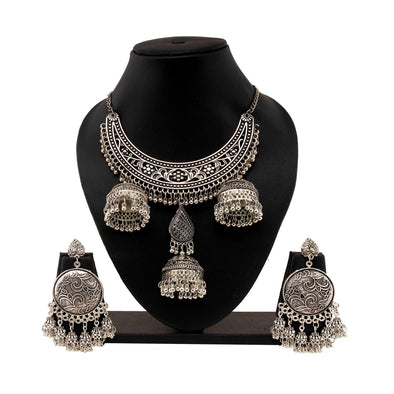 Statement Banjara silver oxidised Set
