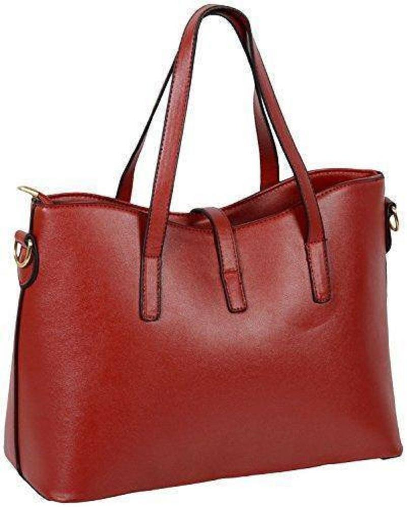 b019a1e697290e Buy Lacira Stylish Leather Handbags-Set of 4-Red Online in India ...