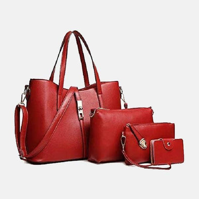 Lacira Stylish Leather Bag-Set of 4