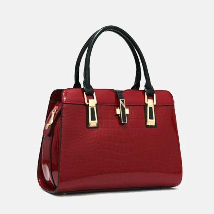 Lacira Elegant Hard Leather Hand Bag