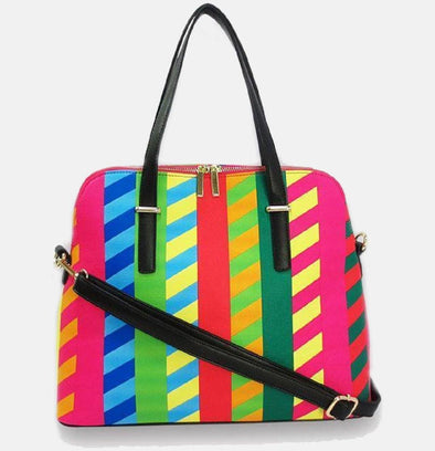 Lacira Smart stripes handbag-Yellow