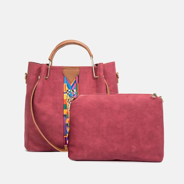 Trendy Colorful Strap Hand Bag