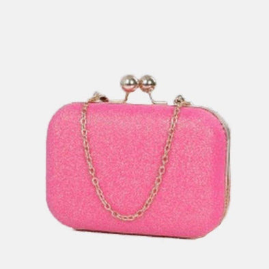 Small Clutch Bag Evening Bag-Pink
