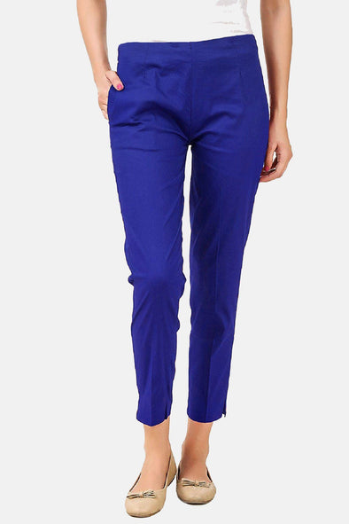 Cigarette Pants (Blue) Slim Fit