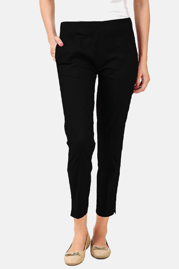 Cigarette Pants (Black) Slim Fit