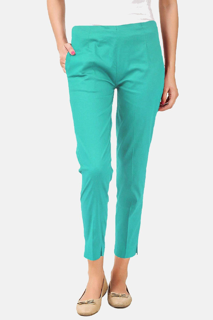 Cigarette Pants (Cyan) Slim Fit