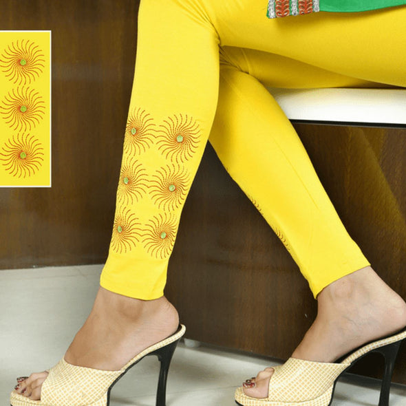 Embroidered Leggings (Free Size) Chakra