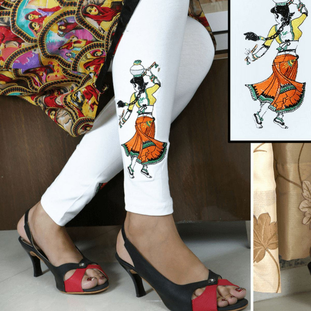 Embroidered Leggings (Free Size) Matka