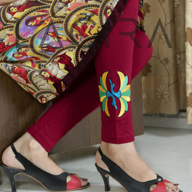 Embroidered Leggings (Free Size) Blooming dale