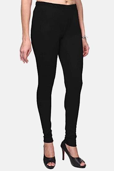Plain Cotton Churidar Legging (Size:-Fit to 24 Inch to 34 Inch) - Black & Green