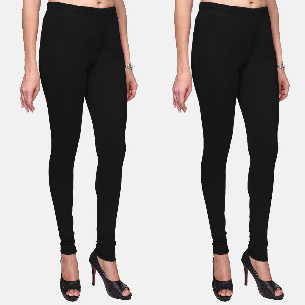 Black Color Plain Churidar Legging Combo (Size – XS to 5XL)