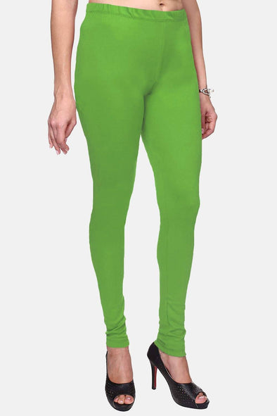 Parrot Green Color Plain Churidar Legging (Size – XS to 5XL)