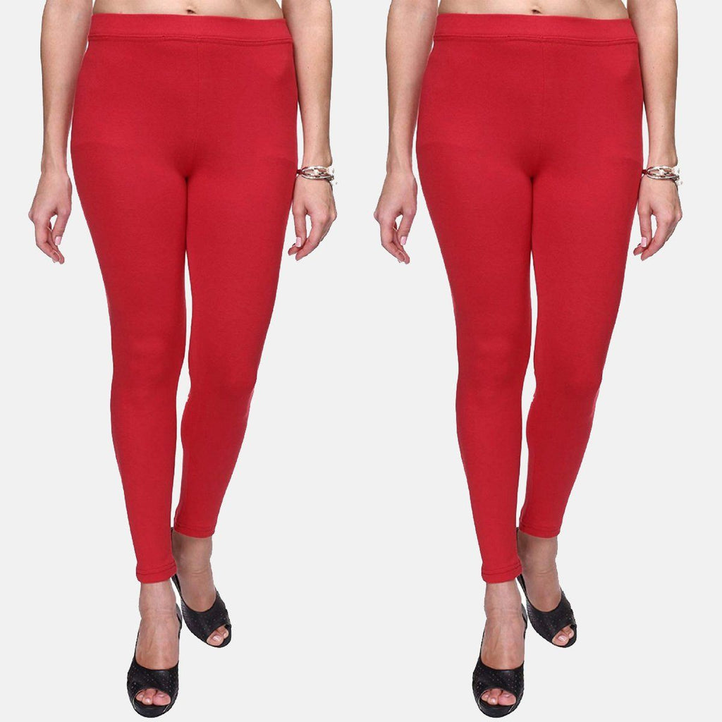 Red Color Plain Ankle Length Legging Combo (Size – XS to 5XL)