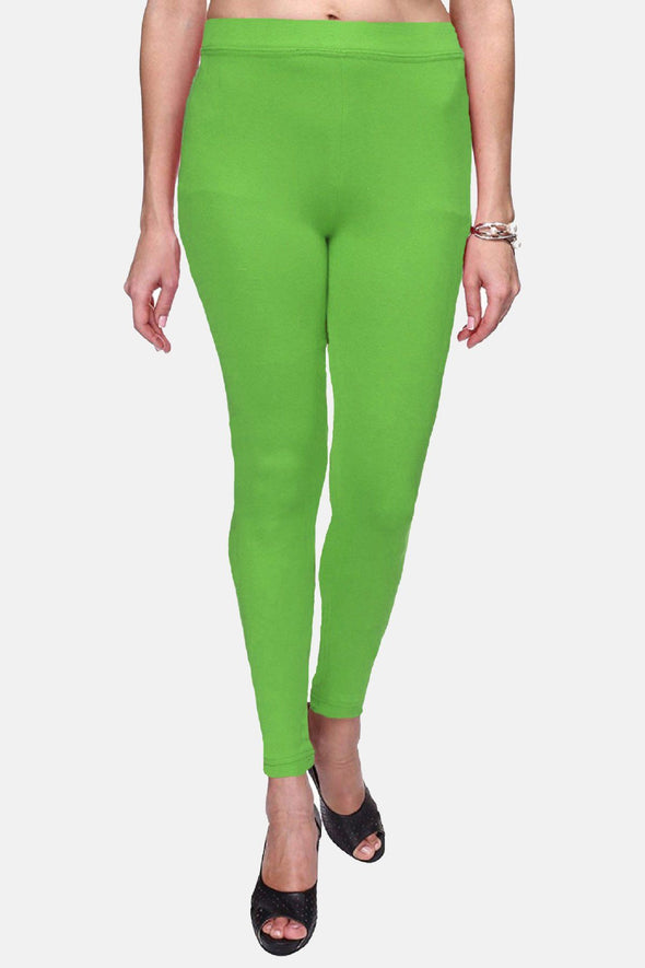 Parrot Green Color Plain Ankle Length Legging (Size – XS to 5XL)