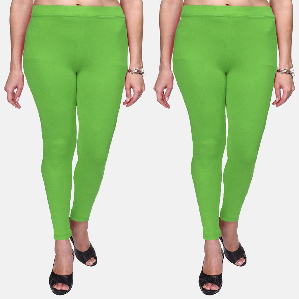 Parrot Green Color Plain Ankle Length Legging Combo (Size – XS to 5XL)