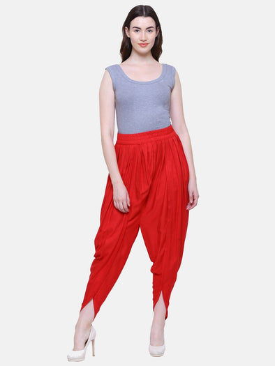 Lacira Tulip Pants (Red) Free Size