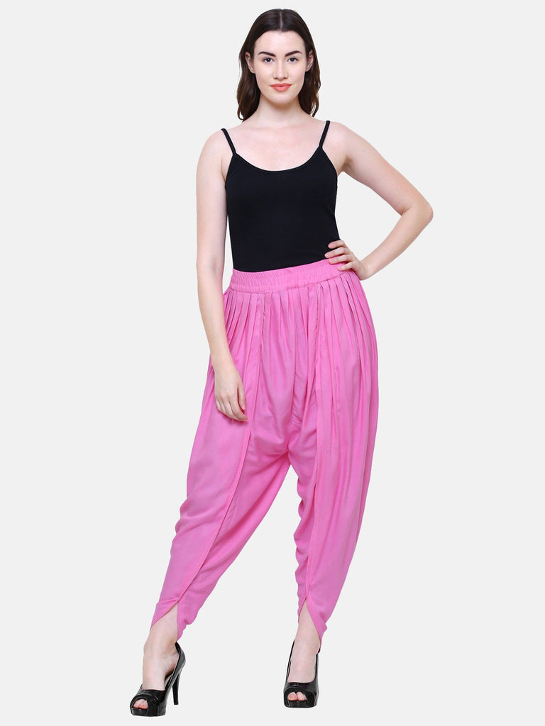 Lacira Tulip Pants (Light Pink) Free Size