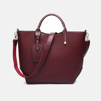 Designer Hard-Leather Handbag