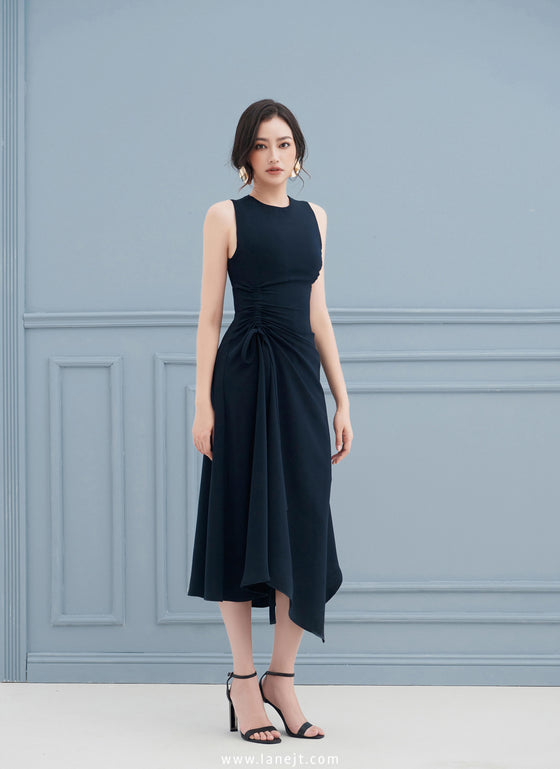 KRISSY Ruched Side Dress