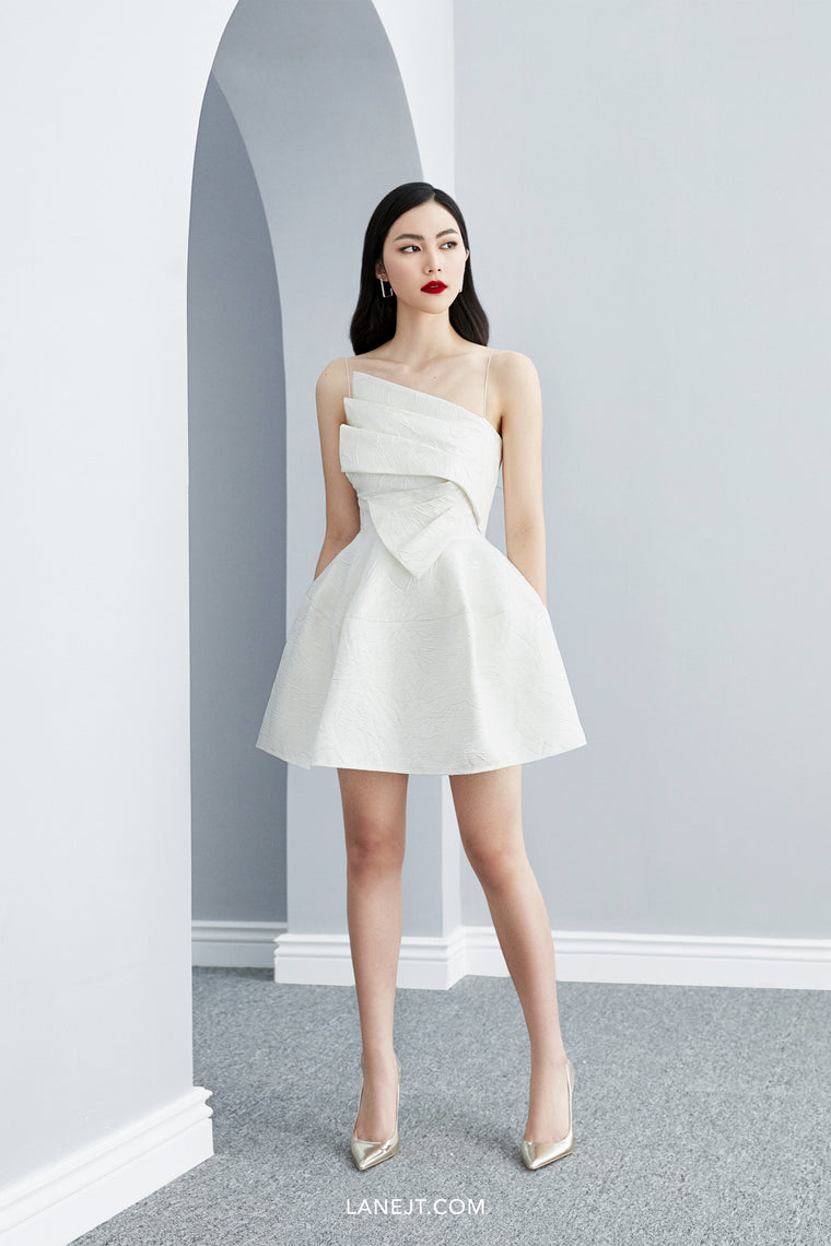 ORIGAMI Front Draped Mini Dress