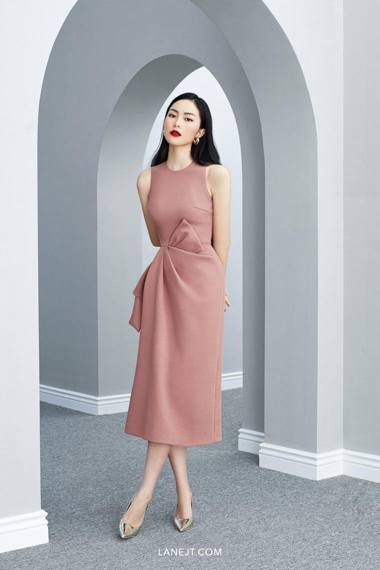 MINA Bow Midi Dress