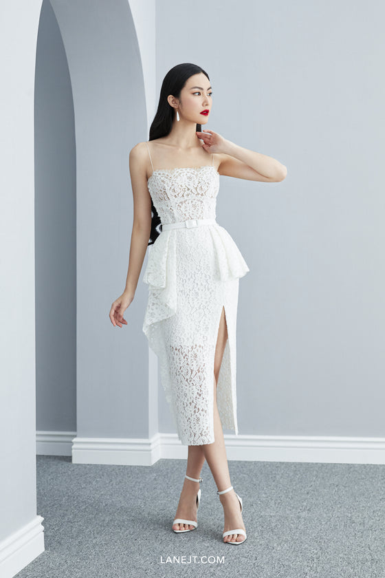 NORA Lace Midi Dress